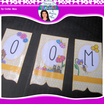 Beehive Classroom Theme - Welcome Banner with EDITABLE pages