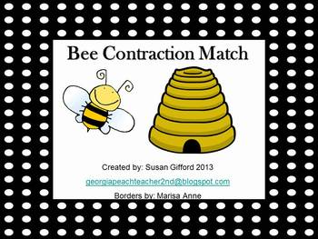 Beehive  Contraction Match Game - Common Core
