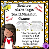 Beehive Multiplication Games (2 digit by 2 digit and 3 digit by 2 digit)