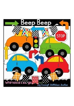 Beep Beep Cars Clipart Collection