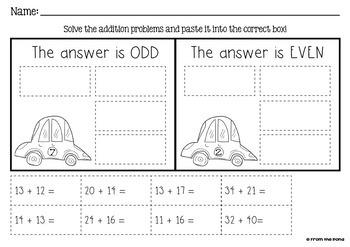 Two Digit Addition - Beep Beep - Math Center / Game