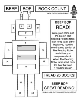 Beep Bop Book Count with The Reading Robot