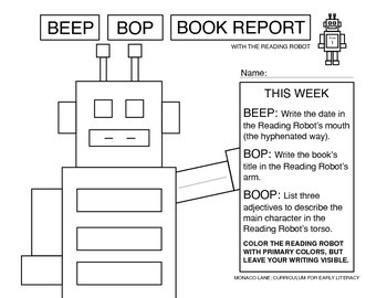 Beep Bop Book Reports with The Reading Robot