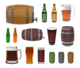 Beer Clip Art - Alcohol Brewery Truck Digital Graphics