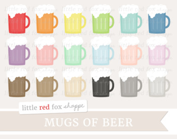 Beer Clipart; St. Patrick's Day, Drink, Mug, Cup, Cocktail