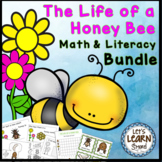 Bees Life Cycle Math Literacy & Science - Bee Themed Activ