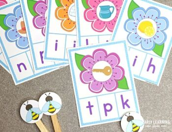 Bees Alphabet & Beginning Sound Clip Cards | Insects & Bugs Letter Activities