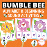 Bees Alphabet & Beginning Sound Clip Cards   Insects & Bugs Letter Activities