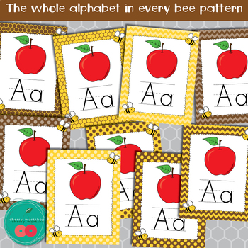 Bees Alphabet Posters