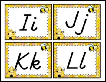 Bees / Beehive Themed Word Wall Alphabet