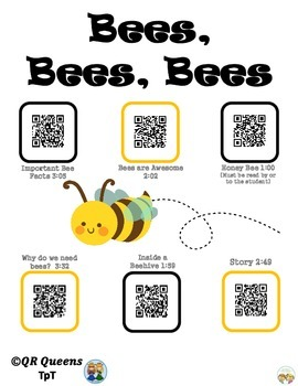 Bees, Bees, Bees with QR Codes and Links Listening Center