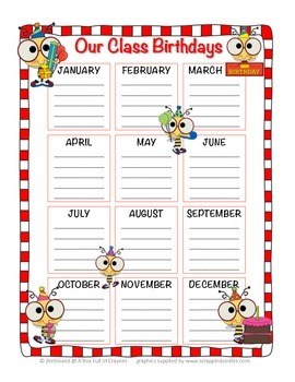 Bees Birthday Chart