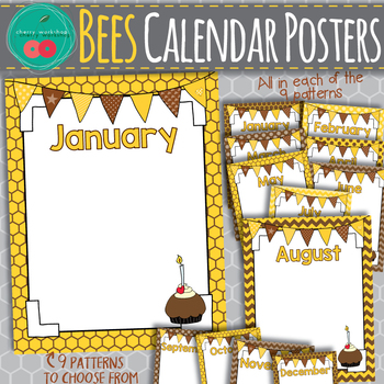 Bees Birthday Posters