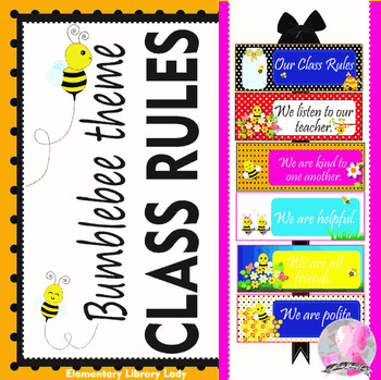 Bees Bumblebees Bee Class Rules - EDITABLE