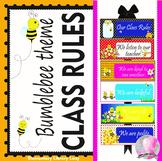 Bumblebees Decor Classroom Rules - EDITABLE