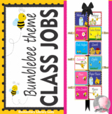 Bumblebees Decor Classroom Jobs - EDITABLE