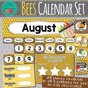 Bees Calendar Set