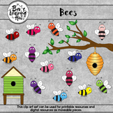 Bees Clip Art Set for printable and digital resources