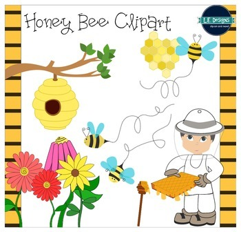 Honey Bees Clipart