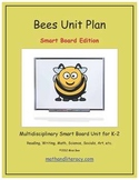 """Bees"" Common Core Aligned Math and Literacy Unit - SMARTBOARD EDITION"