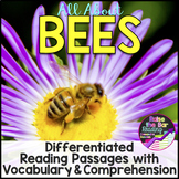 Differentiated Bees Reading Passages with Vocabulary & Com