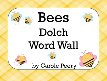 Dolch Word Wall Bees