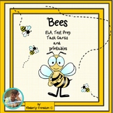 Bees! Non-Fiction Task cards & Printables & ELA Test Prep (Skill Review)