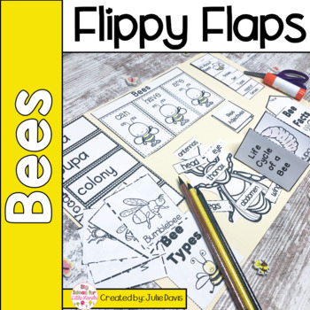 Bees Flippy Flaps Interactive Notebook Lapbook