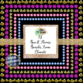 """Bees & Flowers Boarder Frame 12"""" x12"""