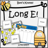 Vowels Long E Cards and Activities Bees Knees!