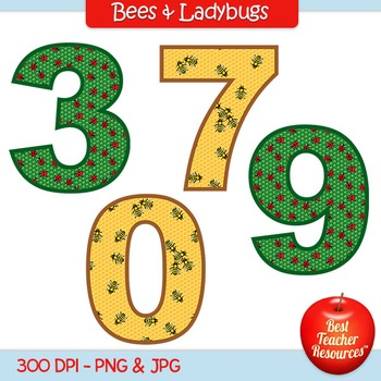 Bees & Ladybugs Clip Art