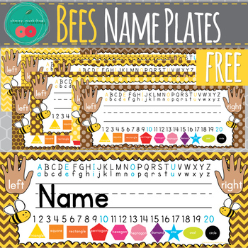 Bees Name Plates