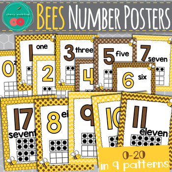 Bees Number Posters
