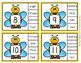 Bees Number Word Match Clip Cards