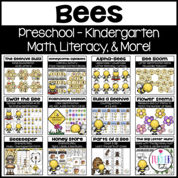 Bees Bundle   Math & Literacy Activities
