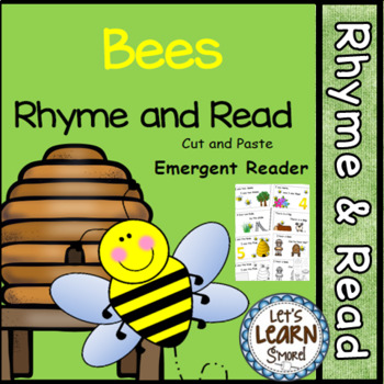 Bees Emergent Reader (Rhyme and Read) and Cut and Paste Activities Book