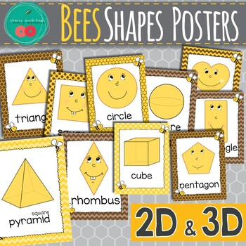 Bees Shapes Posters