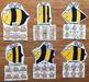 Bees Shapes Sorting Mats