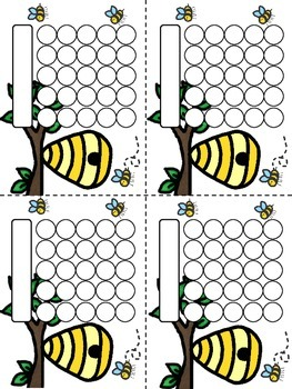 Bees Sticker Incentive Charts - Full Color and Less-Ink Options