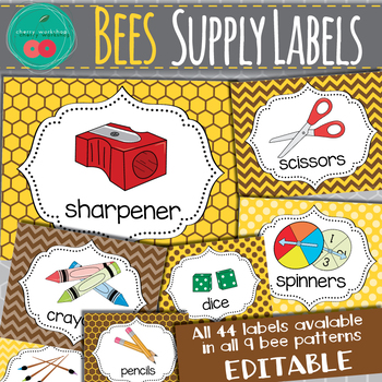Bees Supply Labels