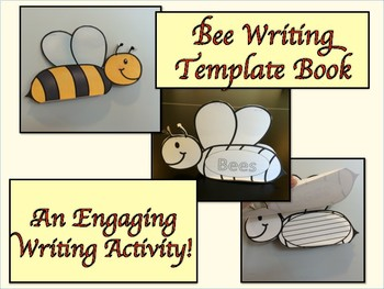 ESL Activity: Bees Thematic Writing Book Template-ELL Newcomers Too!