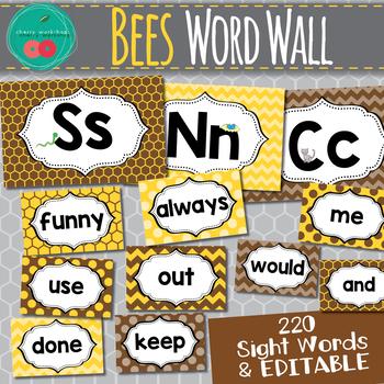 Bees Word Wall