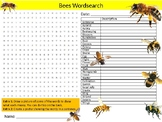 Bees Wordsearch Sheet Starter Activity Keywords Animals Insects Biology