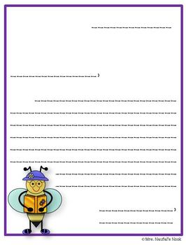Writing Paper Bees