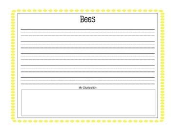 Bees Writing and Organizer