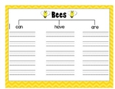 Bees Writing and Organizer