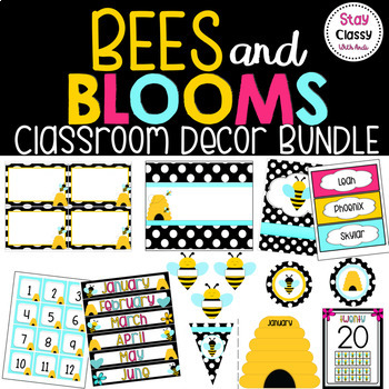 Bees and Blooms Bundle (EDITABLE)