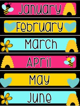 Bees and Blooms: Months of the Year