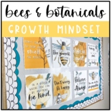 Bee Classroom Decor: GROWTH MINDSET POSTERS