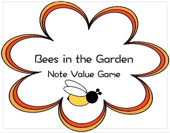 Bees in the Garden Note Value Matching Game